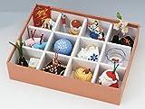 縁起物の置物 四季の置き物 松花堂四季飾り 白雲 化粧箱