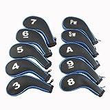 ナイキ ゴルフ Craftsman Golf 3-sw 10 Long Neck Iron Synthetic Leather Durable Zippered Head Covers Black & Blue Fit All Brands Titleist, Callaway, Ping, Taylormade, Cobra, Nike, Etc. [並行輸入品]