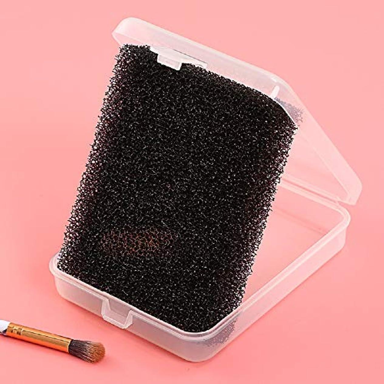 トランザクションセクタ受粉者暖かい心 メイクブラシ クリーナー ドライクリーニングスポンジ ブラッシュブラシ スポンジ 化粧ブラシクリーナー (BLACK-1)