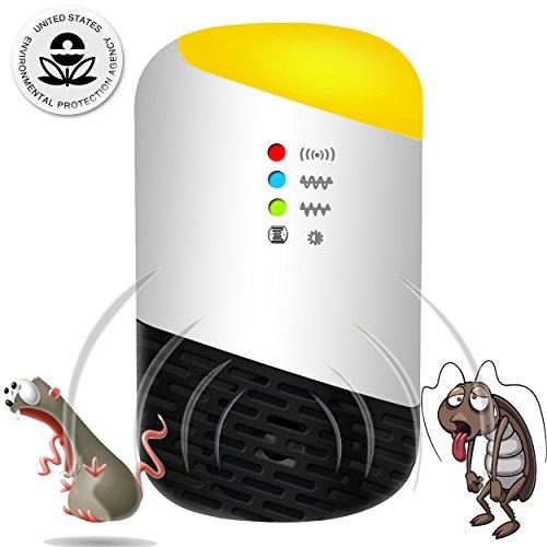 ネズミ 駆除 超音波 ねずみ、害虫 駆除機、撃退器 5種類超音波 電磁波 ねずみ駆除 ゴキブリ/蚊/クモなどの...