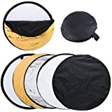 """Happyjoy 80cm 32"""" Photo Photography 5 in 1 Collapsible Multi Light Reflector Studio Outdoor"""
