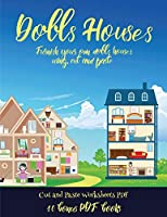 Cut and Paste Worksheets PDF (Doll House Interior Designer): Furnish your own doll houses with cut and paste furniture. This book is designed to improve hand-eye coordination, develop fine and gross motor control, develop visuo-spatial skills, and to help