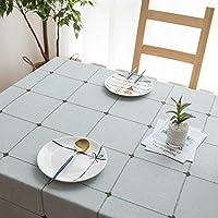 テーブルクロスコットンリネン小さな新鮮なキッチンダイニング卓上装飾洗えるピクニックホームデコレーション布コーヒーテーブルマット屋外ピクニック布, 140*140cm