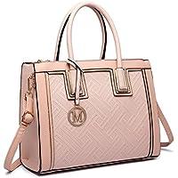 Miss Lulu Women Handbags Female Fashion PU Leather Large Tote Laptop Shoulder Bags Cross Body Bag for Girls