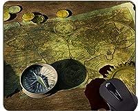 コンパスの賭博のマウスパッドの習慣、地球コンパスの世界地図の冒険のマウスパッド