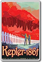 Visit Kepler-186f - NASA Vintage Space Travel - Visions of the Future - fridge magnet - ?????????
