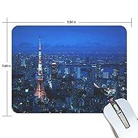 マウスパッド 東京タワー 疲労低減 ゲーミングマウスパッド 9 X 25 厚い 耐久性が良い 滑り止めゴム底 滑りやすい表面