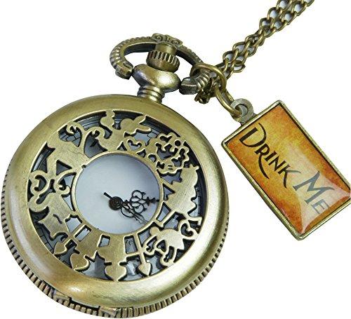 [リトルマジック] B級 絵柄違いBタイプ 英数字が可愛い アリス 懐中時計 レディース 【正規品】子供 時計