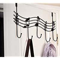 装飾音楽注意スタイルメタルコートハンガーローブフックホームオフィスの使用ブラック