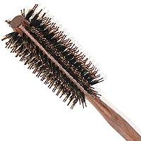 天然ロールブラシ ヘアブラシ 豚毛 巻き髪 耐熱仕様 静電気除去