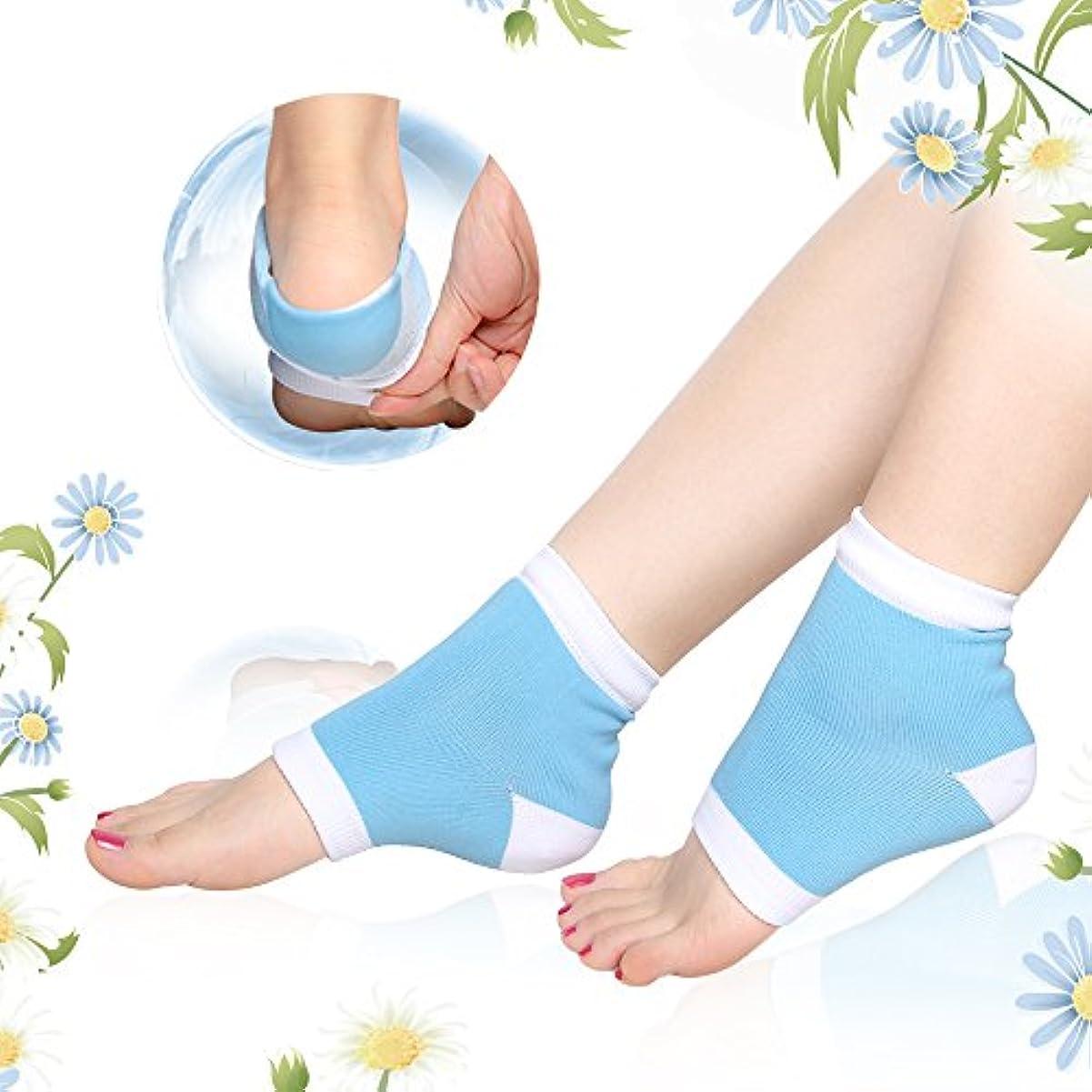 概してにきゅうりかかとケア 靴下, ひび/角質ケア 保湿 ソックス うるおい 足首用サポーター フットケア グッズ ヨガソックス 左右セット フリーサイズ By Dr.Orem