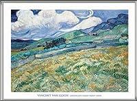 ポスター フィンセント ファン ゴッホ Landscape from Saint-Remy 1889 額装品 アルミ製ハイグレードフレーム(シルバー)