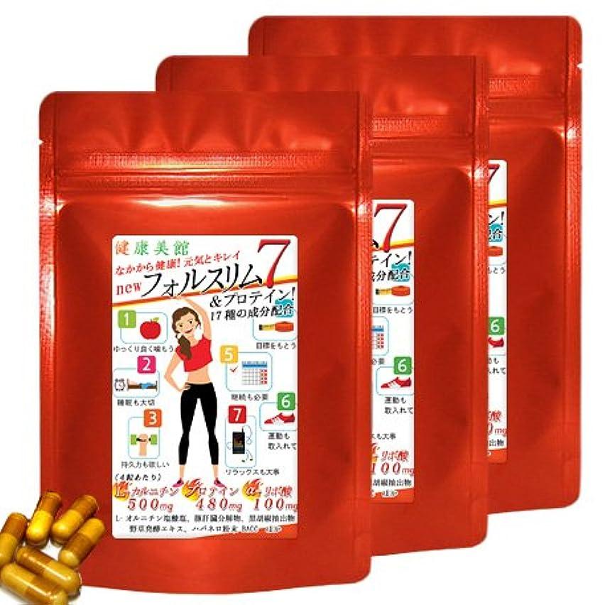 こんにちは汚れたシーケンス【お得用3袋セット】フォルスリム7 Lカルニチンにαリポ酸+さらにプロテインの 計17種の成分を配合しました!