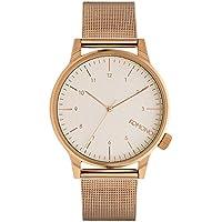 [コモノ]KOMONO メンズ レディース ユニセックス WINSTON ROYALE 42mm ホワイト文字盤 ローズゴールド メッシュ ステンレス KOM-W2356 腕時計 [並行輸入品]