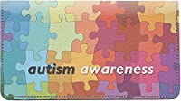 Autism Awarenessレザー小切手帳カバー