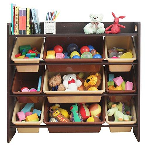 おもちゃ箱 ラック 天板付 ブラウン