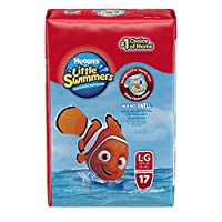 Huggies Little Swimmers Disposable Swim Diapers, Swimpants, Size 5-6 Large (over 32 lb.), 17Ct. (Packaging May Vary)