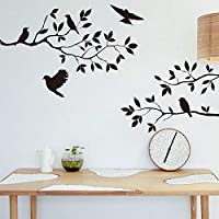 Onlymygod小枝鳥寝室のリビングルームの背景の背景取り外し可能な壁のステッカー57 x 42 cm