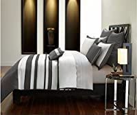 Brielle Stratosphere布団セット、クイーン、ブラック/クリーム King Comforter Set 807000124534