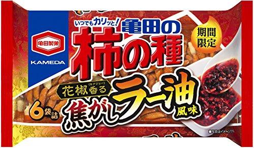 亀田製菓 亀田の柿の種焦がしラー油風味6袋詰 182g×12袋