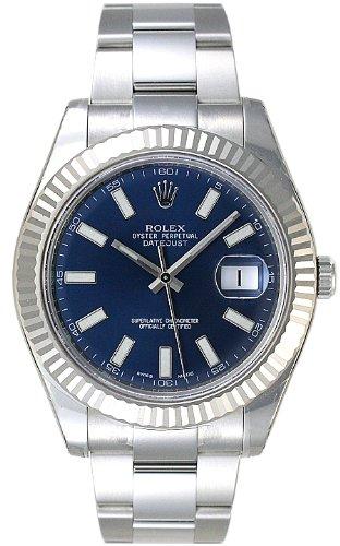 (ロレックス) ROLEX 腕時計 デイトジャストⅡ 116334 ブルー バー メンズ [並行輸入品]