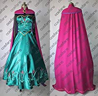 1248ディズニー Frozen エルサと雪の女王 エルサ ドレス コスプレ衣装(オーダー)