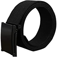Bullidea Unisex Adult Canvas Breathable Wide Waist Belt With Alloy Buckle Solid Color Quick Drying and Adjustable for Outdoor Activities(12)