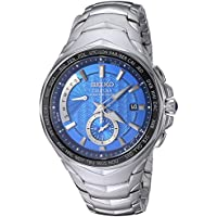 Seiko Men's COUTURA Japanese-Quartz Watch with Stainless-Steel Strap, Silver, 24 (Model: SSG019)