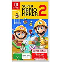 Super Mario Maker 2 Limited Edition (Nintendo Switch) Includes Game Card + Nintendo Switch Online 12 month Individual Membership