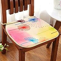 お食事椅子クッション滑り止め記憶泡,純色ぬいぐるみスポンジ オフィス シート クッション正方形の椅子パッドとのつながり-N