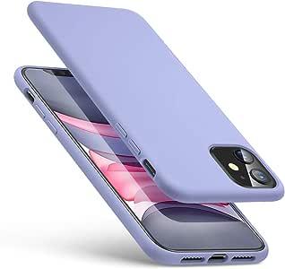 ESR iPhone 11 ケース ソフト 液体シリコンケース アイホン 11 カバー ファイバー裏地 スムーズシリコン 【指紋防止 衝撃吸収 耐傷性 薄型 Qi急速充電対応】 6.1インチ iPhone 11 專用スマホケース(ラベンダーパープル)