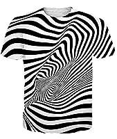 ファニエントTシャツメンズルーズフィットTシャツ3Dグラフィッククイックドライ通気性Tシャツ夏の軽量トレーナービーチスポーツランニングジョギングシャツ-ゼブラパターン-XXL