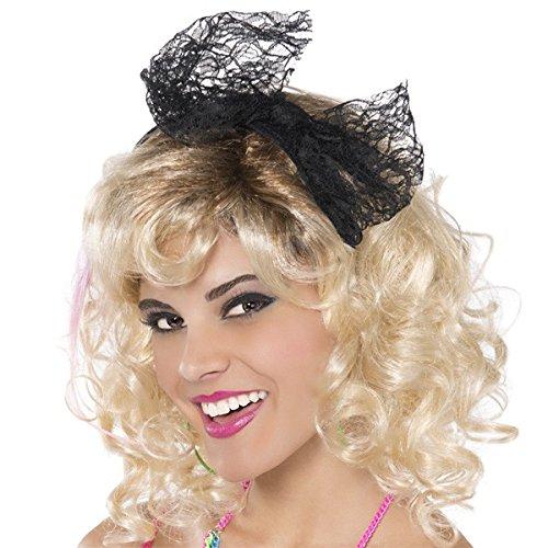 Fun World 90209FW 80s Black Lace Headband