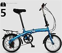 折りたたみ自転車 16インチ マウンテンバイク MTB おりたたみ自転車 折畳自転車W468 ブルー