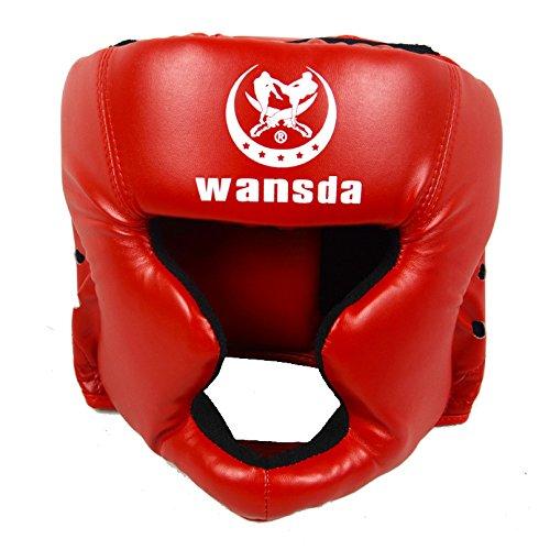 h.effect (エイチエフェクト) ヘッドギア ずれにくく分厚いクッション スパーリング MMA 総合格闘技 ボクシング キックボクシング 空手 ムエタイ 格闘技 トレーニング フィットネス メンズ レディース 赤 レッド