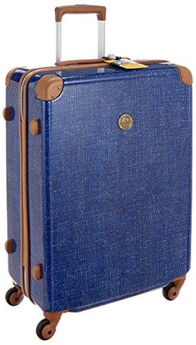 [ハレイワ] スーツケース ハードキャリー ジッパー  保証付 56L 65cm 3.6kg HW115 BLUE DENIM ブルーデニム
