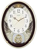 掛け時計 電波時計 からくり時計 メロディ付き スモールワールドプラウド ブラウン リズム時計 4MN523RH06