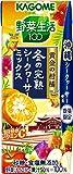 カゴメ 野菜生活100 プレミアム 冬の完熟シークヮーサーミックス 200ml×24本