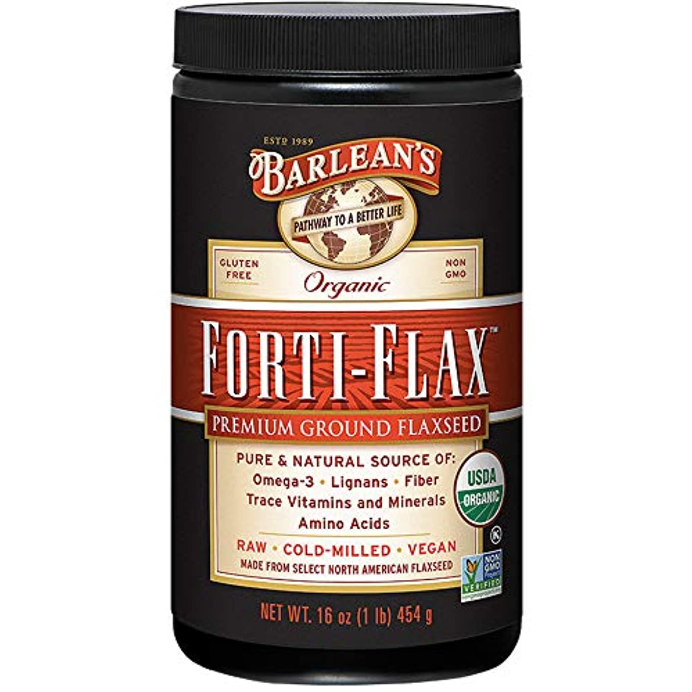 知事排泄物レスリングBarlean's, Forti-Flax, 16 oz (454 g)