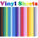 Rabbitgoo Permanent Self-Adhesive Vinyl 40 Sheets, 12'' x 12'', 33 Assorted Colors Vinyl Bundle for Cricut/Silhouette Cameo/Most Craft Cutters