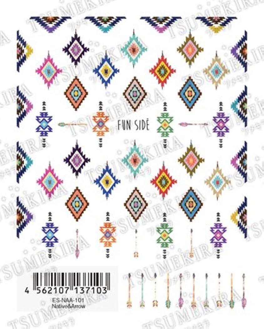 縫う頭痛軽食ツメキラエス ネイル用シール ネイティブ&アロー Free's Nailプロデュース第2弾 ES-NAA-101