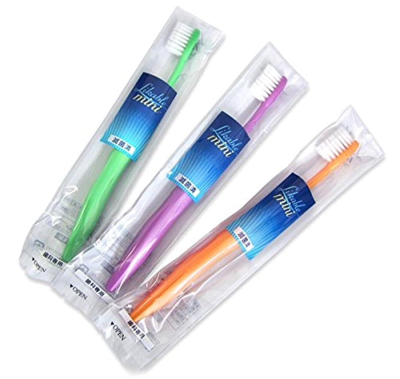 長方形敬意を表するシェルライカブル ミニ歯ブラシ 12本入