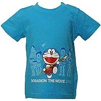 【本体綿100%】2016年 夏物 ドラえもん 前後プリント 半袖Tシャツ doraemon ブルー◇90cm