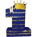 apinata4uロイヤルブルー&ゴールドPrinceテーマNumber One Pinata