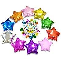Happiest (ハピエスト) HAPPY BIRTHDAY 誕生日 アルミ バルーン 幼稚園 保育園 お誕生日 風船 二次会 お祝い演出 (お誕生日hoshi★五芒星10色セット)