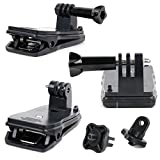 DURAGADGET Durable Quick-Clip with Straight Bolt Screw Connector for Sony HDR-MV1,HDR-GW66VE/WC.CEN,HDR-AS100V,HDR-AS10,HDR-AS..