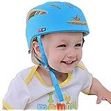 SONGZHILONGベビー・幼児 用 可愛い 洗える スポンジ ヘルメット 綿100% (ブルー)