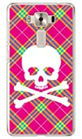 SECOND SKIN スカルパンク ピンク (クリア) / for ZenFone 3 Deluxe (5.5インチ) ZS550KL/MVNOスマホ(SIMフリー端末) MAS3D5-PCCL-201-Y218