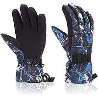 スキー手袋、モホ面冬手袋暖かい通気性防水手袋メンズレディース防風雪手袋スキー、スノーボード、スケート、ランニング、サイクリング、ハイキング、およびその他のアウトドアアクティビティ