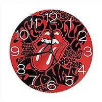 シャンローリングストーンズ2 掛け時計 壁掛け時計 インテリア 無音 デジタル時計 連続秒針 簡単 おしゃれ デザイン 高級感 部屋装飾